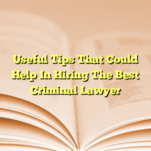 Useful Tips That Could Help In Hiring The Best Criminal Lawyer