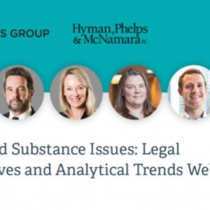 REMINDER: Controlled Substances Act Issues: Legal Perspectives and Analytical Trends Webinar