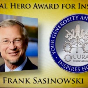 """HP&M's Frank Sasinowski Receives """"2021 Pontifical Hero Award for Inspiration"""" from Pope Francis & Vatican for his Many Decades of Rare Disease Advocacy"""